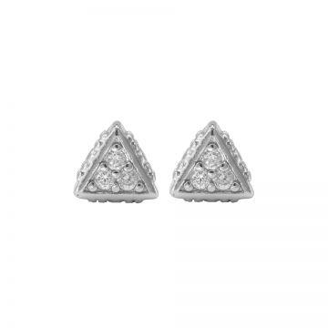 Karma Zirconia Symbols Triangle Silver