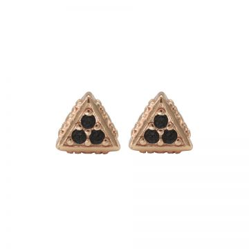 Karma Black Zirconia Symbols Triangle Roseplated
