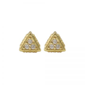 Karma Zirconia Symbols Triangle Goldplated