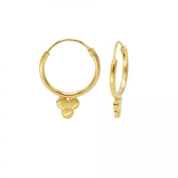 Hoops Symbols Solid Triple Dots Goldplated