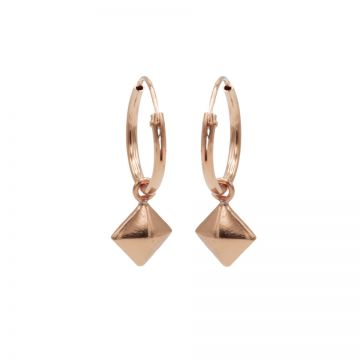 Hoops Symbols Square Stud Roseplated