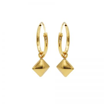 Hoops Symbols Square Stud Goldplated