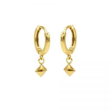 Hinged Hoops Stud Goldplated