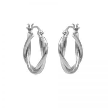 Plain Hoops Chunky Twisted Silver