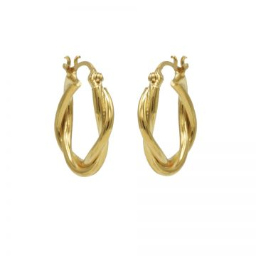 Plain Hoops Chunky Twisted Goldplated
