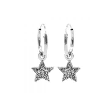 Hoops Symbol Zirconia Star Dots Silver (3pack)