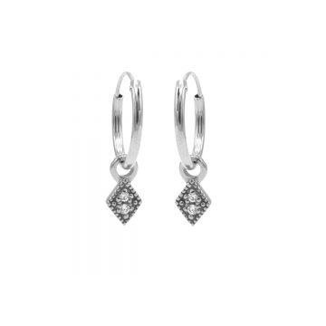 Hoops Symbol Zirconia Mini Diamond Silver (3pack)