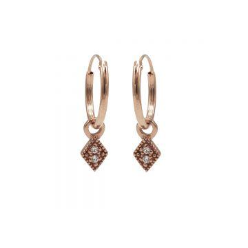 Hoops Symbol Zirconia Mini Diamond Roseplated (3pack)