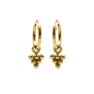 Hoops Symbols 6 Dots Triangle Goldplated