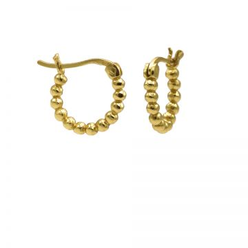 Plain Hoops Dots 14MM Goldplated