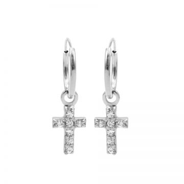 Hoops Symbols Zirconia Faith 2 Silver