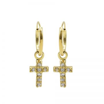 Hoops Symbols Zirconia Faith 2 Goldplated