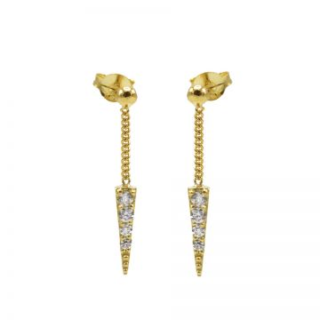 Chainstuds Zirconia Cone Goldplated
