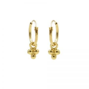Hoops Symbols Triple Dots Goldplated