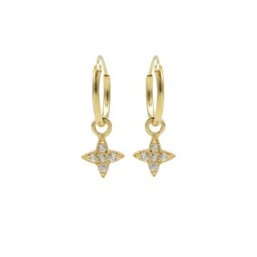 Hoops Symbols Zirconia Morningstar Goldplated