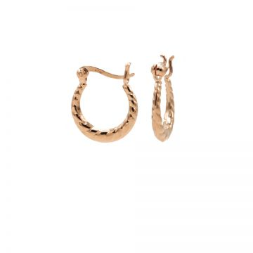 Plain Hoops Structured Mini Roseplated