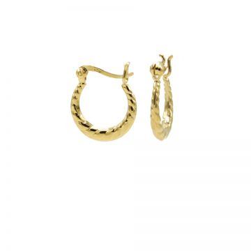Plain Hoops Structured Mini Goldplated