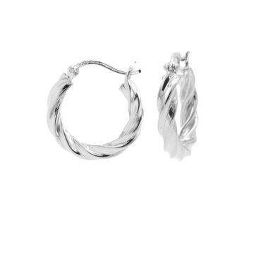 Plain Hoops Twist and Turn MEDIUM Silver