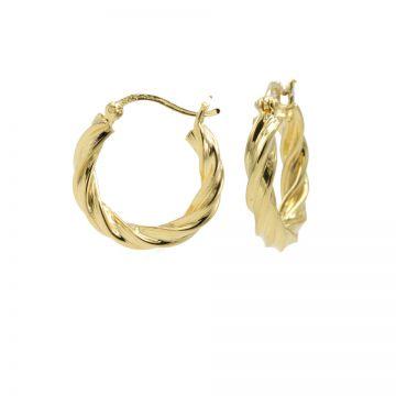 Plain Hoops Twist and Turn MEDIUM Goldplated