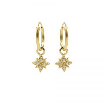 Hoops Symbols Zirconia Morningstar 2 Goldplated