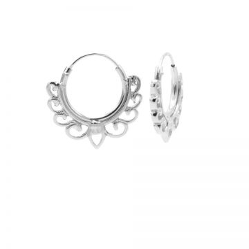 Hoops Symbols Solid Bow Silver