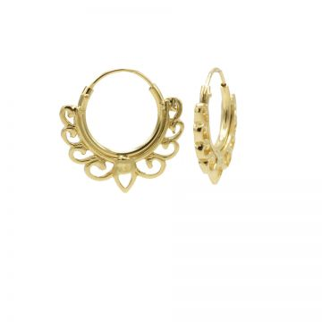 Hoops Symbols Solid Bow Goldplated