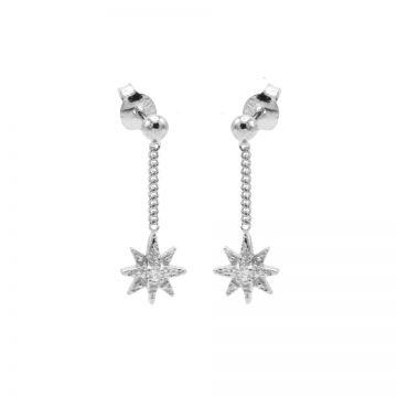 Chainstuds Zirconia Morningstar Silver