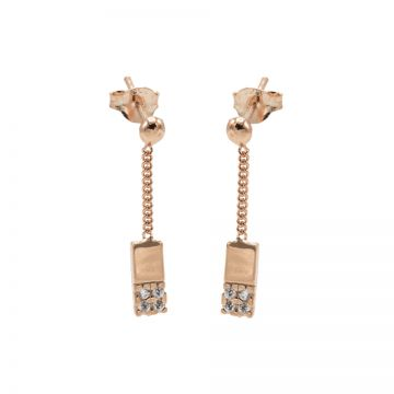 Chainstuds Zirconia Rectangle Roseplated