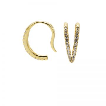 Earcuff V Zirconia Goldplated (1 piece)