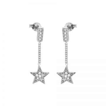 Chainstuds Zirconia Star Silver