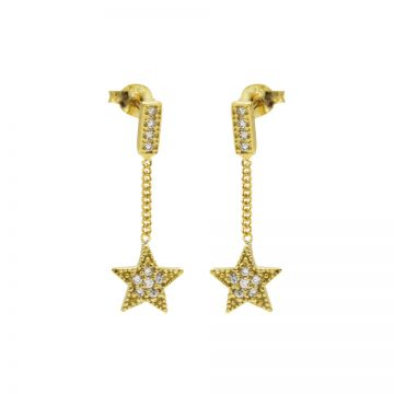 Chainstuds Zirconia Star Goldplated
