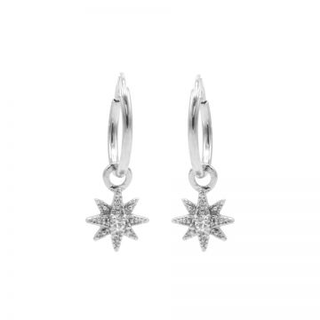 Hoops Symbols Zirconia Morningstar 3 Silver