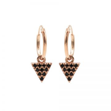 Hoops Symbols Black Zirconia Triangle 2 Roseplated