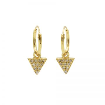 Hoops Symbols Zirconia Triangle 2 Goldplated