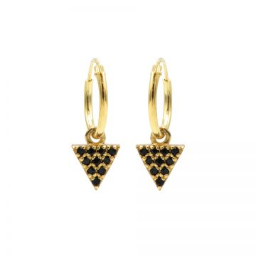Hoops Symbols Black Zirconia Triangle 2 Goldplated