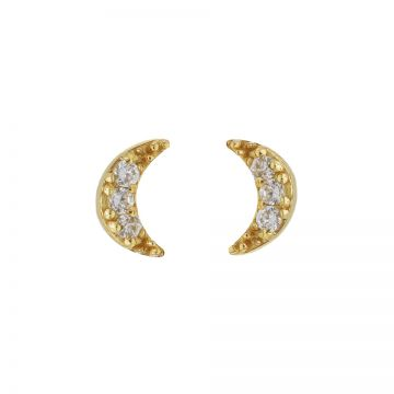 Karma Zirconia Symbols Moon 2 Goldplated