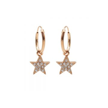 Hoops Symbols Zirconia Bright Star Roseplated