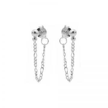 Chain Figaro Double Dot Silver