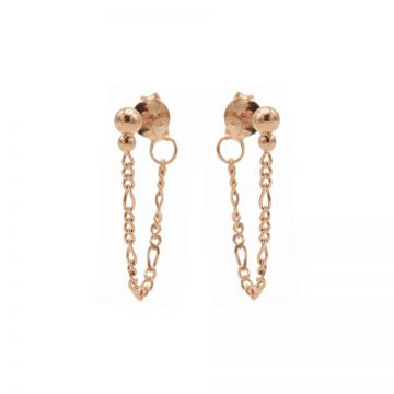 Chain Figaro Double Dot Roseplated