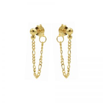 Chain Figaro Double Dot Goldplated