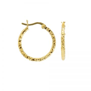 Plain Hoops DC Hammered Goldplated
