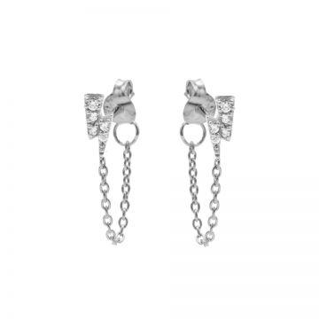 Chain Zirconia Lightning Silver