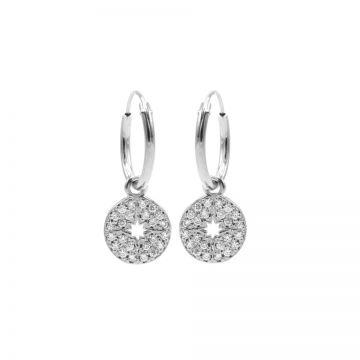 Hoops Symbols Zirconia Disc Morningstar Silver