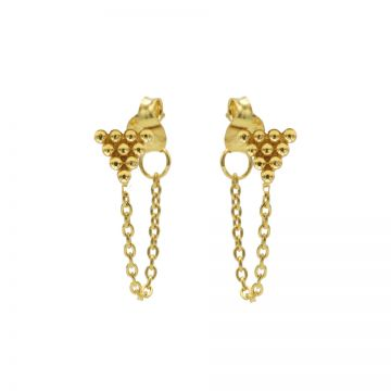 Chain 10 Dots Triangle Goldplated