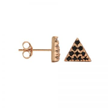 Karma Black Zirconia Symbols Triangle 2 Roseplated