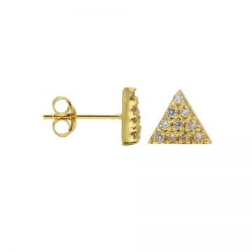 Karma Zirconia Symbols Triangle 2 Goldplated