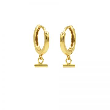 Hinged Hoops Horizontal Tube Goldplated