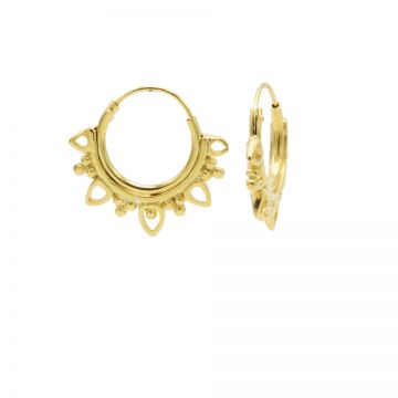 Hoops Symbols Solid Dotty Flower Goldplated