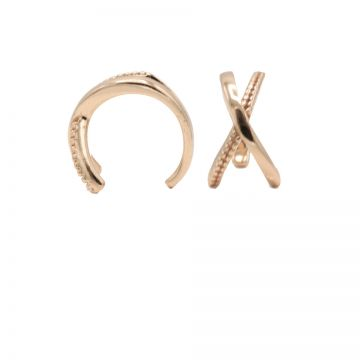 Earcuff Plain X Roseplated (1piece)