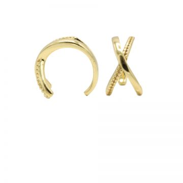 Earcuff Plain X Goldplated (1 piece)